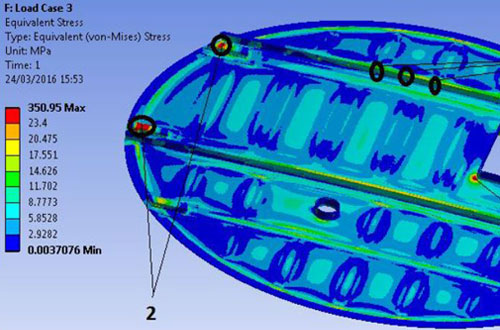 FEA analysis of GRP cover.